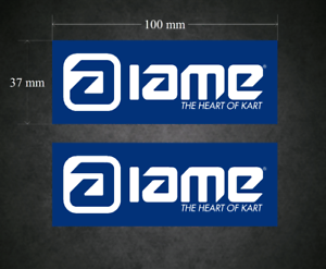 Decals 2 x 100mm x 37mm Printed /& Laminated Go-Kart IAME Stickers Karting