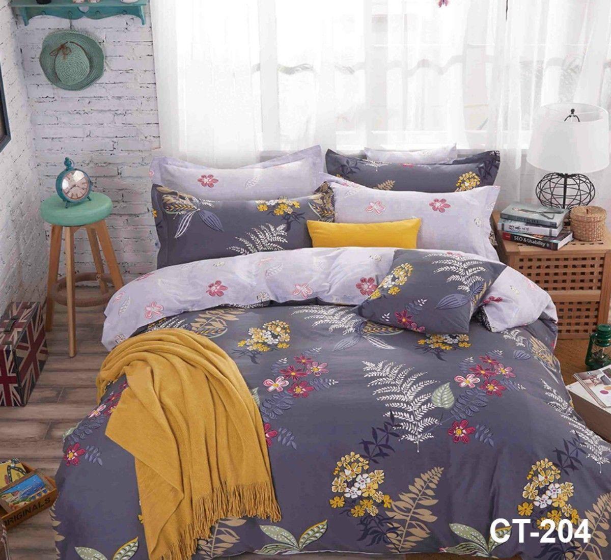4 Pieces Complete Set 200 Thread Counts 100% Egyptian Cotton Bedding Set CT-204