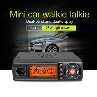 ZASTONE Z218 Mini Car Mobile Radio 25W  Walkie Talkie  10KM VHF UHF Dual  Band