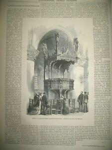 PARIS-NOTRE-DAME-NOUVELLE-CHAIRE-PRECHE-PORTUGAL-CHATEAU-DE-CINTRA-GRAVURES-1868