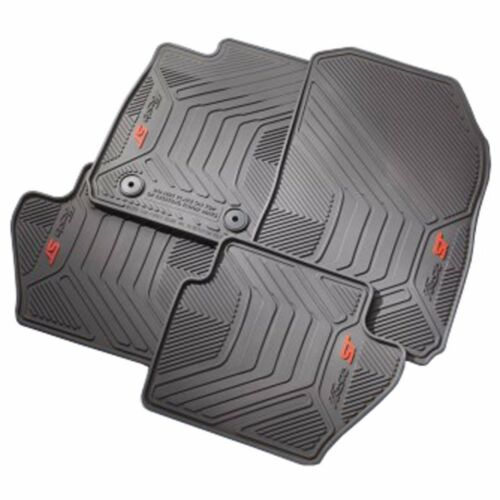 EE8Z-5413300-AA OEM 2014-2018 Ford FIESTA ST ALL WEATHER Floor Mats 4-PC BLK