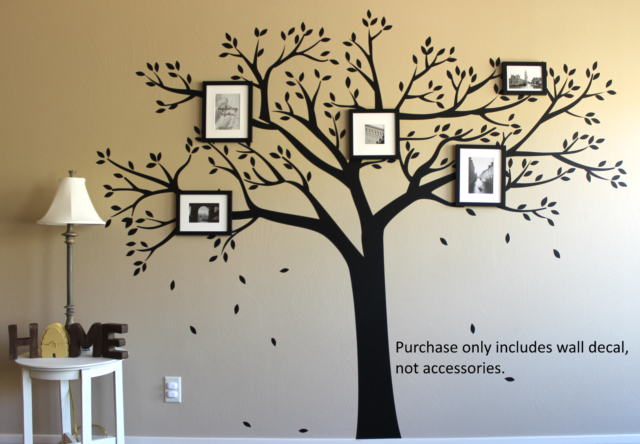large family tree wall sticker decal vinyl photo picture frame