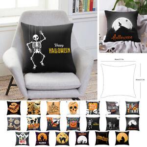 Colore-Halloween-Fete-Canape-Decortif-Taie-d-039-oreiller-Maison-Housse-de-Coussin