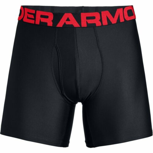 Under Armour Mens Tech 6 inch 2 Pack Boxers Jock Shorts Underwear