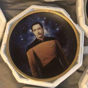 1993 Star Trek The Next Generation Lt. Commander Data Hamilton Collector's Plate