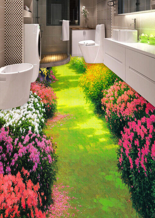 3D colorful Garden 52 Floor WallPaper Murals Wall Print 5D AJ WALLPAPER UK Lemon
