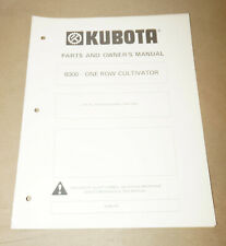 Kubota B300 One Row Cultivator Parts Amp Owners Manual Pn K5 436 1079