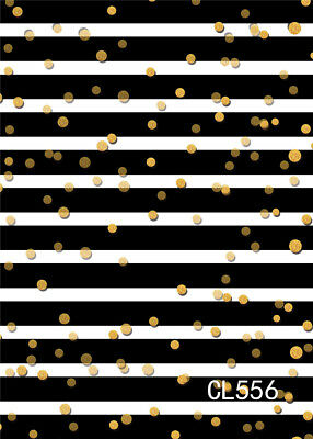 5x7ft Black White Stripes Gold Light Spot Vinyl Backdrop Photography Background Ebay