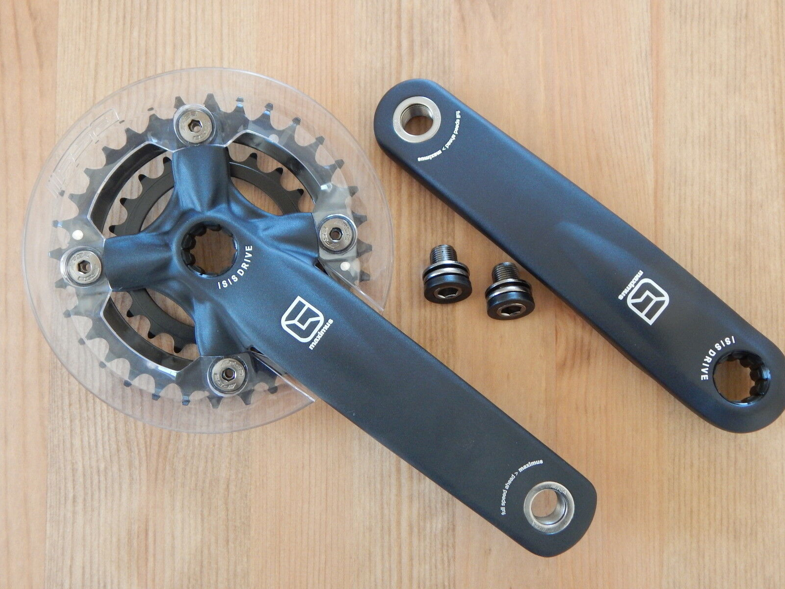 New Gravity Maximus Double Crankset 22-32t 170mm ISIS w. FSA Bash Guard + Bolts