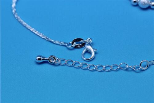 Ziemlich Silber Farbe Stern Kette Armband Mode Perlen Armbänder Armreifen G9