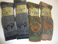 Realtree Men's Merino Wool Blend 4 Pair Socks Size 10-13, Made In The Usa
