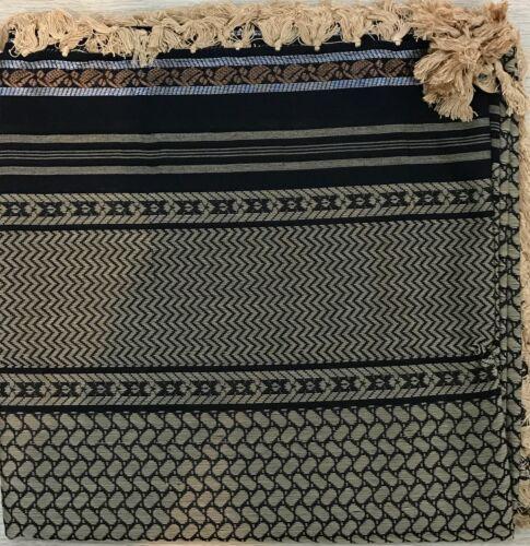 "Luxury arab 50/"" shemagh scarf men women large palestine arfat head islam Gold"