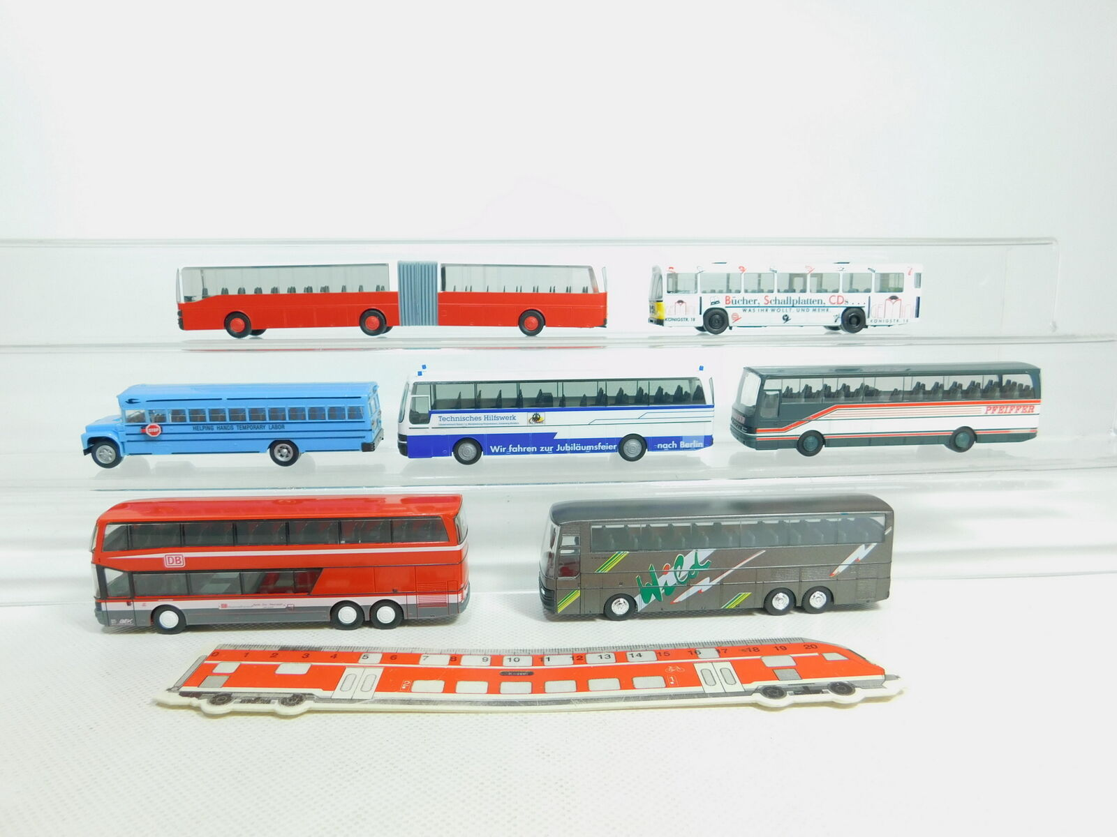 BN150-1 x Herpa H0   1 87 Bus  Man + Kässbohrer THW   Db + Us School Bus etc.
