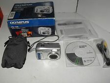 Olympus FE-100 4Mega Pixel Silver Digital Camera With XD Card and Box