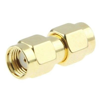 Open-Minded Sma Male To Rp-sma Male Antenna Adapter Converter Extender Gold Plated Promoting Health And Curing Diseases