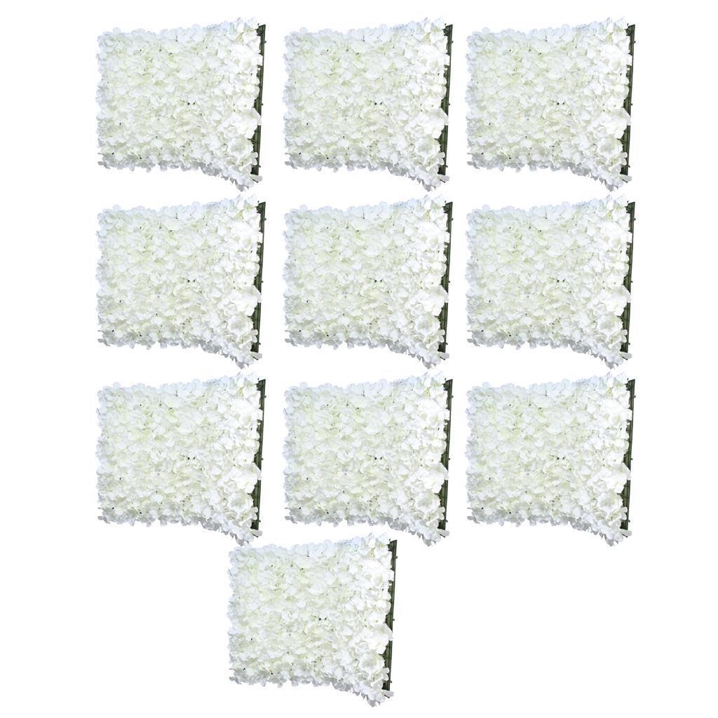 10Pcs Mur Panneau De Fleur Artificielle Fourniture De Mariage Suspendu Décor