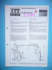 Service manual manual for ITT/Schaub-Lorenz RC 520 Automatic ,ORIGINAL