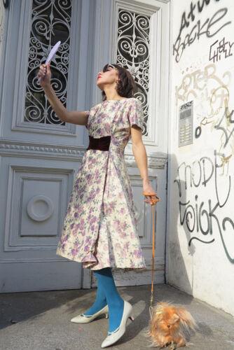 Vintage donna True da moda Abito '60 Rockabilly da donna viola anni Abito alla 58xwa