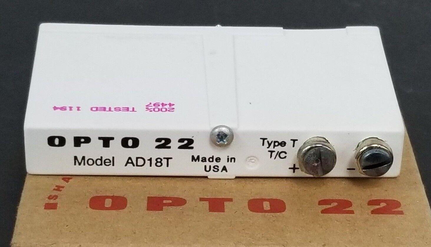Nuevo En Caja opto 22 AD18T Módulo De Entrada Entrada Entrada De Termopar tipo: T T/C c179eb