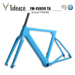 2019-Carbon-Fiber-Gravel-Frame-Sky-Blue-BB386-Cyclocross-Road-Racing-Bike-Frames