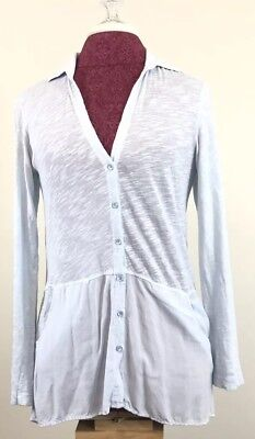 Womens Career Blouse PlusTop Blouse Shirt Button-up Pockets Sheer 1X 2X 3X