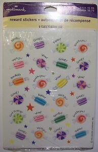 Hallmark Reward Stickers Hard Candy for Children Good Thinking Super Great New