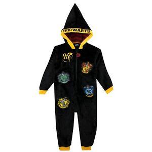 Official HARRY POTTER ONESY Childs Hogwarts Pyjamas PJ Sleepsuit Boys Girls Kids