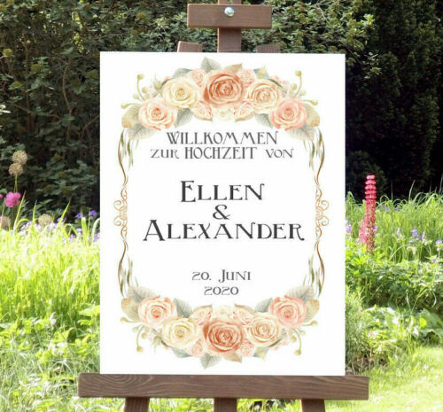 Wedding Personalised Wedding Sign Welcome Sign Poster Decoration