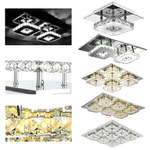 kristall led deckenlampe dimmbar flurleuchte schlafzimmer wandlampe beleuchtung ebay. Black Bedroom Furniture Sets. Home Design Ideas