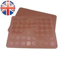 * vendedor Reino Unido * Silicona 39 Cm X 30cm para hornear macarones Macaroon Hornear Pastel Bandeja plantilla Mat