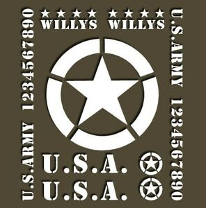 US Military Jeep Star Decals restoration willys M37 M38