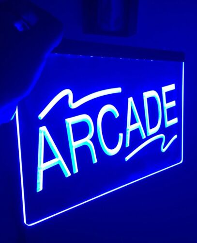 ARCADE ROOM LED Light Neon Sign for Game Room,Office,Bar,Man Cave Arcade Room.