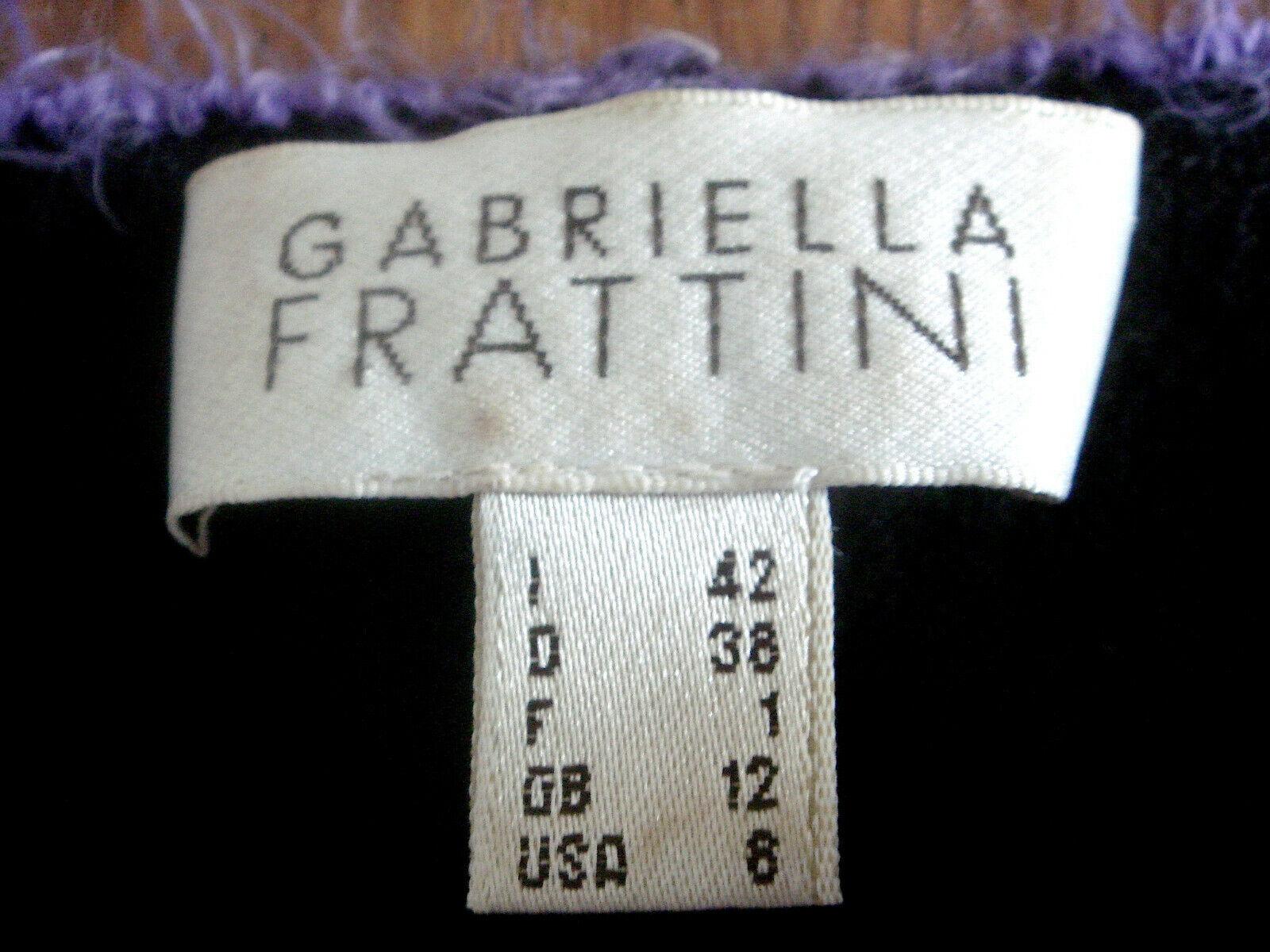 Gabriella FRATTINI TWIN-SET (TOP + MAGLIA GIACCA) GIACCA) GIACCA) NERO VIOLA 30% Merino Tg. 38 cadecd