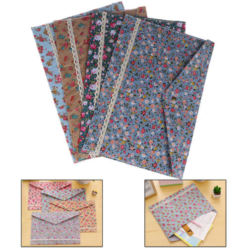 Floral A4 File Folder Document Bag Pouch Brief Case Office Book Holder OrganZY
