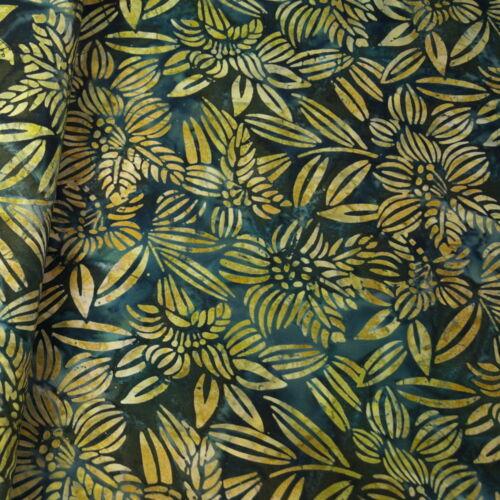 100/% Cotton Fabric Batik Rain Forest Plants Palm Leaves Fabric Freedom BK144