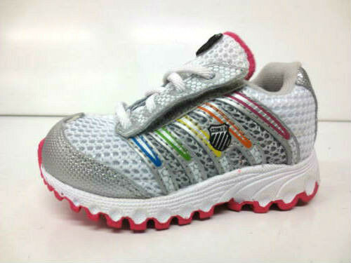 GIRLS K SWISS TRAINERS TUBES 22443894 WHITE// SILVER// MULTI