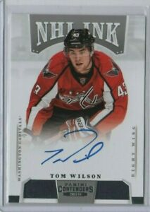 TOM-WILSON-2013-14-PANINI-CONTENDERS-NHL-INK-ROOKIE-AUTOGRAPH