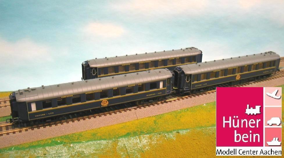 LS Models 49123 3er Set Schlafwagen Typ F CIWL blau Ep4 erhabenes Logo neu+OVP