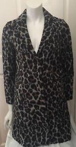 Petite Coat Crombie Leopard Uk 36 Boyfriend 8 Topshop Eur Print 4 Us Size 4xAwqpXdFd