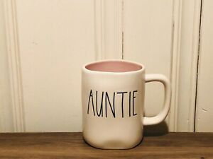 Rae-Dunn-Artisan-Collection-By-Magenta-Aunt-AUNTIE-Ivory-LL-Mug-Pink-Interior