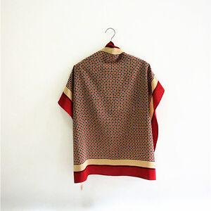 240e62c48b2 CERRUTI 1881 100% pure silk men's sqaure scarf red printed P702491 ...