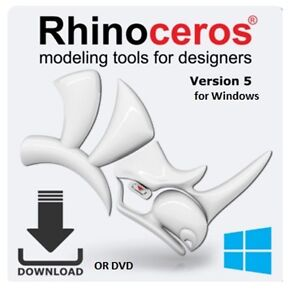 Details about Rhino 5 0 Edu by McNeel - Academic License for PC - Rhino 3D  R50E with free R60E