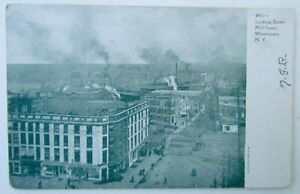VINTAGE-1907-UNDIVIDED-POSTCARD-MILL-STREET-SCENE-WATERTOWN-NY-NEW-YORK