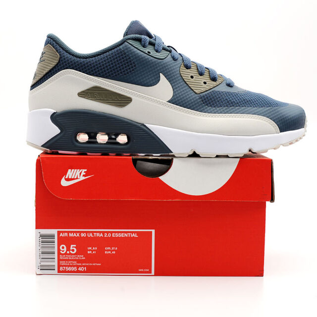 32a3ea1ef Nike Air Max 90 Ultra 2.0 Essential Blue Fox Men Running Shoes ...