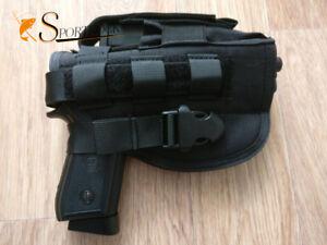 Rechte-Hand-Molle-Pistolenhalter-Holster-Portage-Aufbewahrungstasche-Tasche-Fall