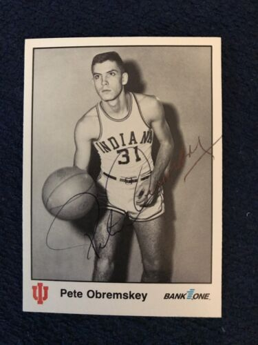 Pete Obremsky Signed Trading Card Autographed Indiana Hoosiers IU Bank One 1