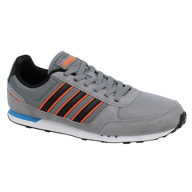 Adidas Neo City Racer shoes Sneakers Trainers Grey Leather Textile