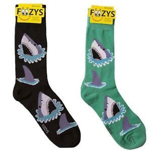 Great White Shark Foozys Men's Crew Socks Foozy