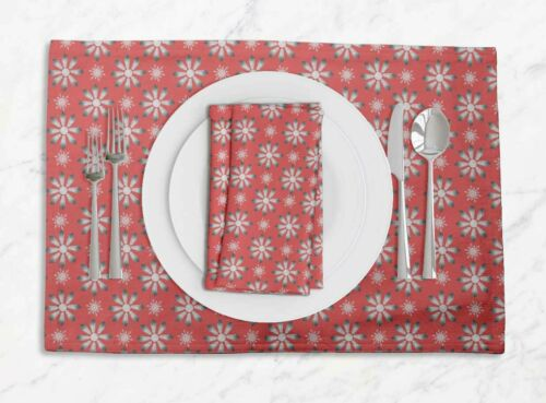 Details about  /S4Sassy Crystals Floral Washable Placemats /& Napkins Table Decor Mats-FL-733O