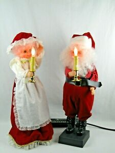 VTG-Animated-Mr-and-Mrs-SANTA-CLAUS-1988-Lighted-Motion-ettes-FIGURES-26-034